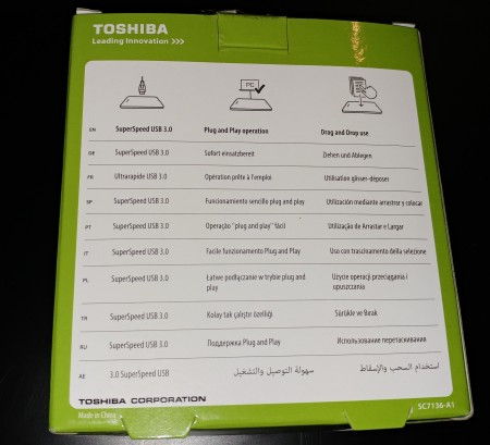 Toshiba Festplatte Test Canvio Basics extern