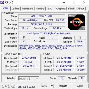 AMD YD1700BBAEBOX Ryzen 7 1700 Prozessor