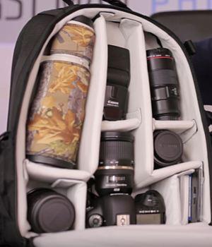 Fotorucksack mit faecher